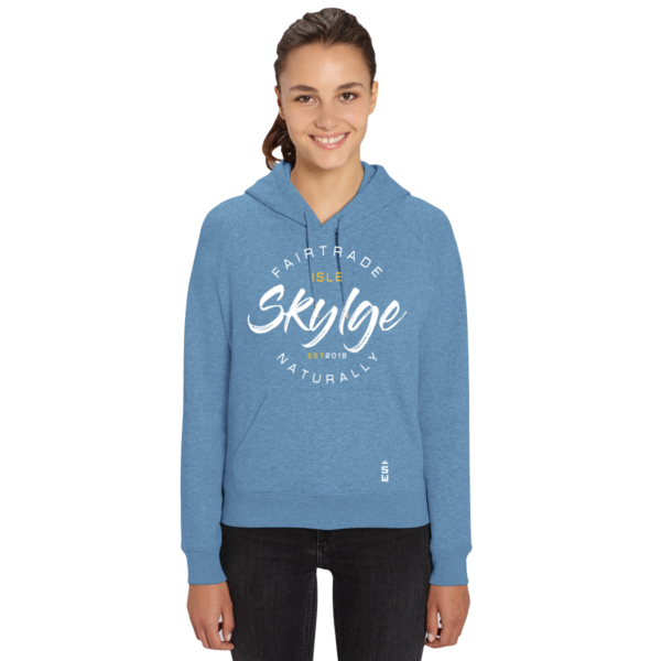 afbeelding van blauwe hooded sweater van Skylgewear voor dames