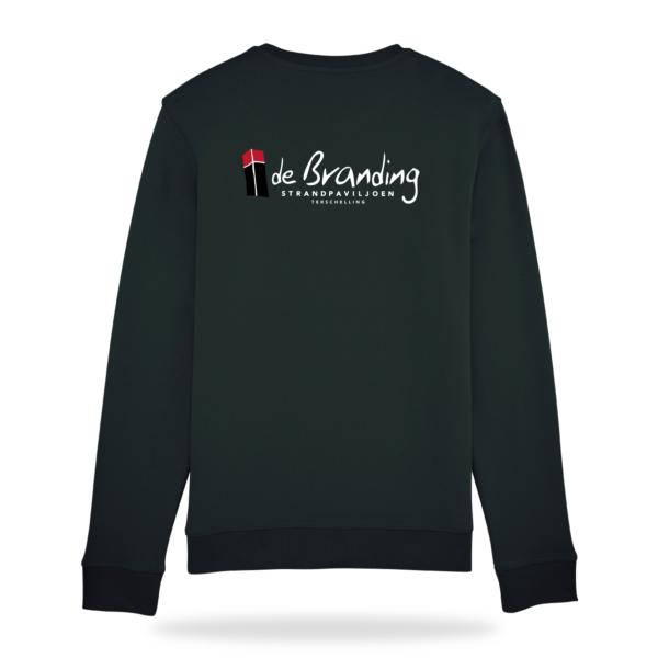 sweater strandpaviljoen de branding terschelling kleur zwart