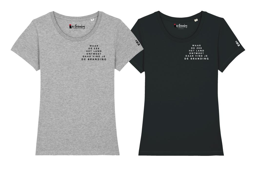 T-shirt dames Strandpaviljoen De Branding Terschelling