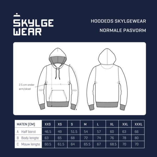 Skylgewear_maattabel_hooded_sweaters