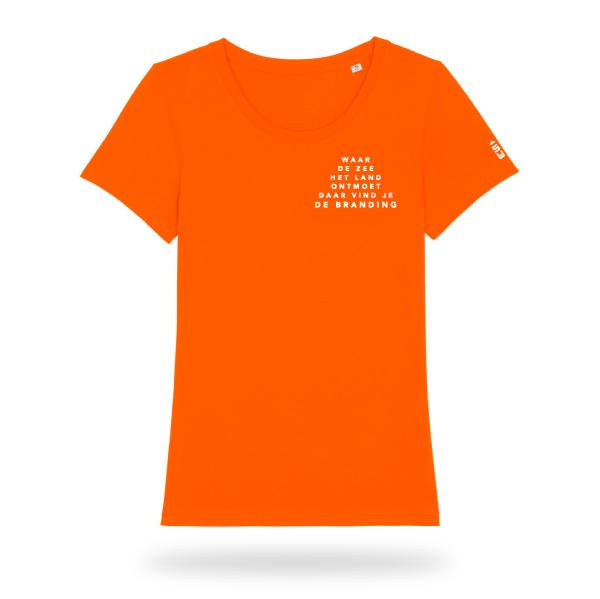 Branding_Tshirt_Dames_oranje_voor