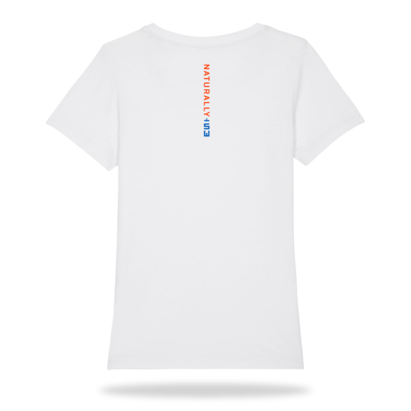 Skylge_dames_Tshirt_fluor_orange_achter